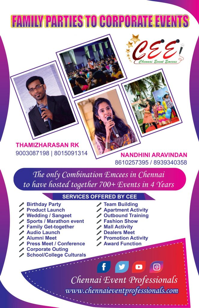 All India Event Emcees Entertainers and Professionals Contact